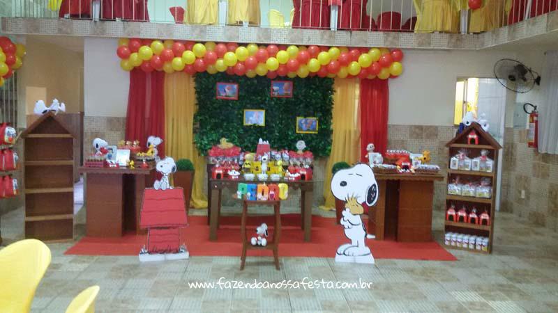 Decoração Festa Snoopy do Pedro