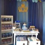 Festa Coroa de Príncipe Azul Marinho