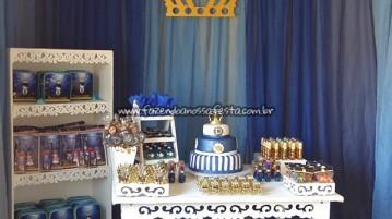 Decoração Festa Coroa de Príncipe Azul Marinho