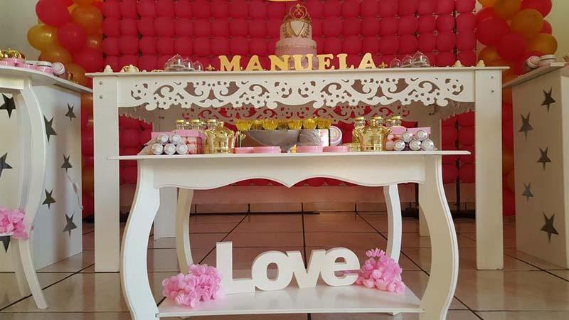 Decoracao Mesa Festa Coroa da Manuela