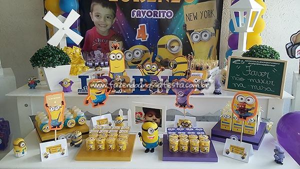Decoração Mesa dos Doces Festa Minions