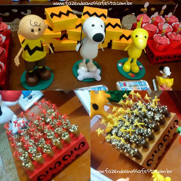 Docinhos Festa Infantil Snoopy do Pedro