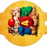 Enfeite Canudinho Alvin e os Esquilos