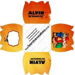 Forminhas Docinhos Flor Alvin e os Esquilos