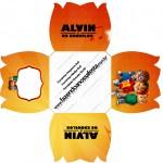 Forminhas Docinhos Flor Alvin e os Esquilos Desenho