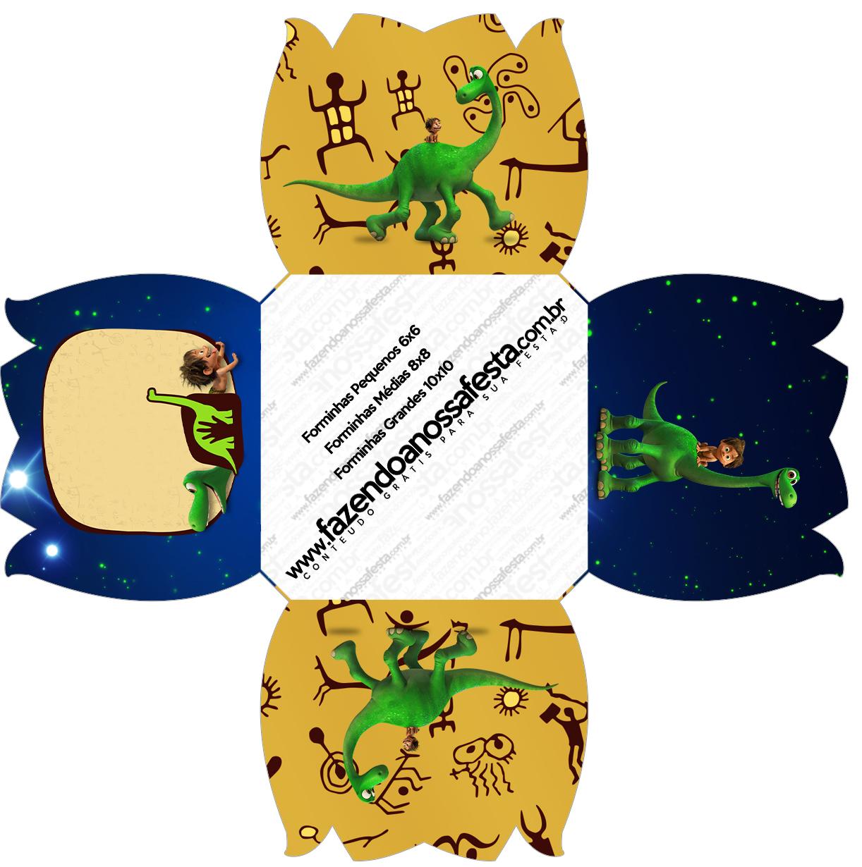Forminhas Flor O Bom Dinossauro