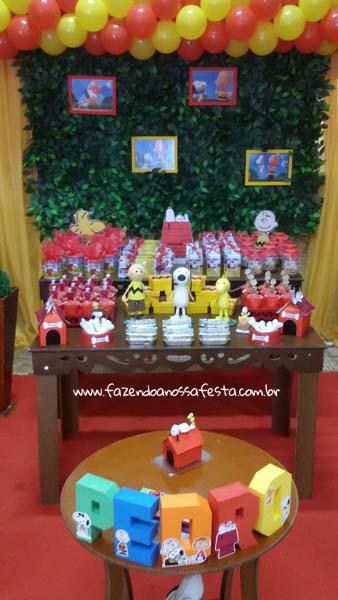 Lembrancinhas Festa Infantil Snoopy do Pedro