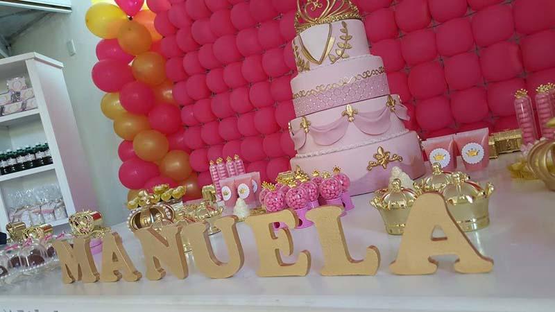 Letra 3D Festa Coroa da Manuela