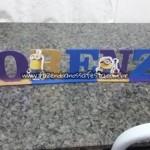 Letras 3D Festa Minions