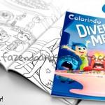 Livrinho para Colorir Divertida Mente Disney