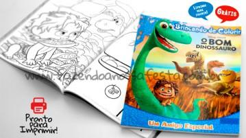 Livrinho para Colorir O Bom Dinossauro Grátis