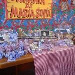 Mesa de doces Festa Junina da Maria Sofia