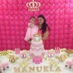 Mesa dos doces Festa Coroa de Princesa da Manuela