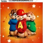 Molde Quadrado Alvin e os Esquilos