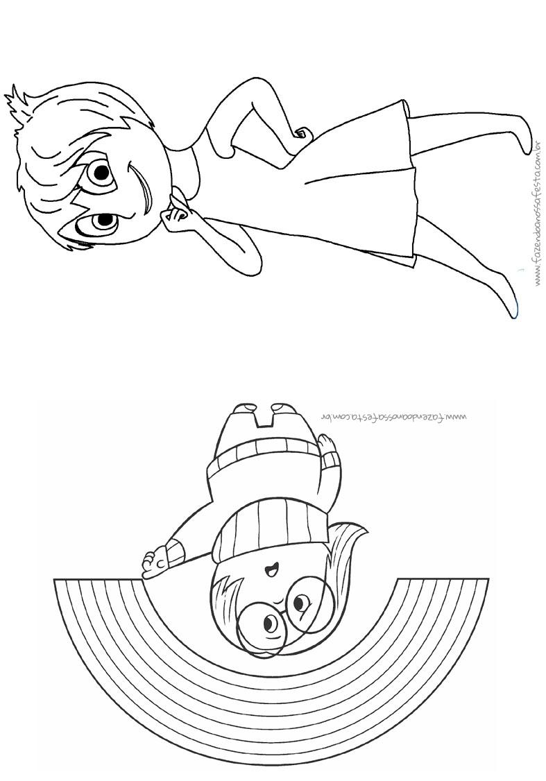 pagina 2 livrinho para colorir divertida mente disney fazendo a