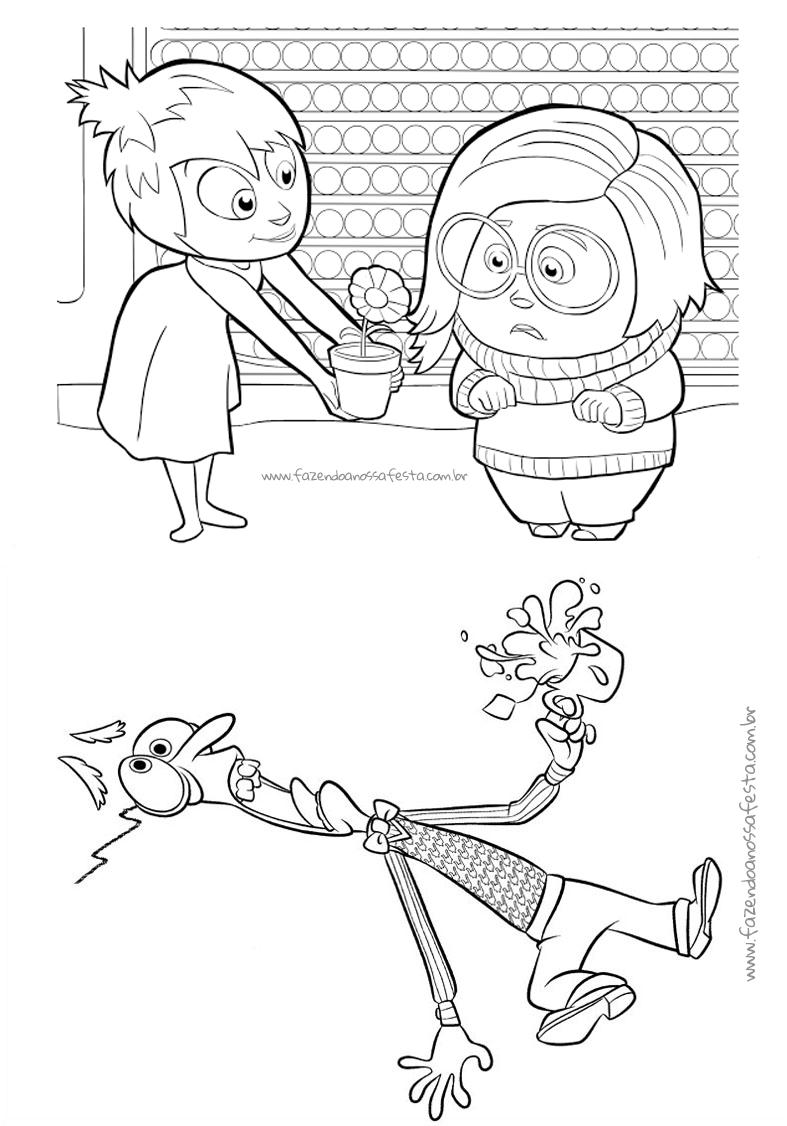 Pagina 3 Livrinho para Colorir Divertida Mente Disney
