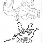Pagina 3 Livrinho para Colorir O Bom Dinossauro