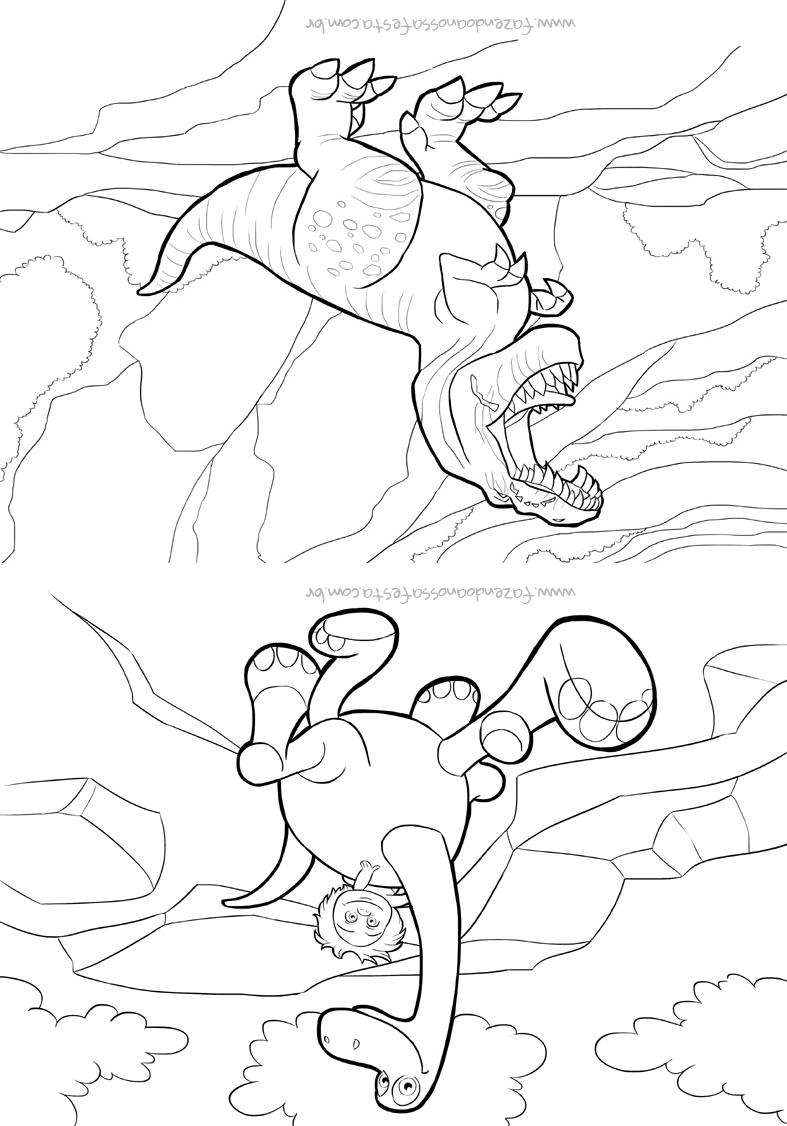 Pagina 4 Livrinho para Colorir O Bom Dinossauro