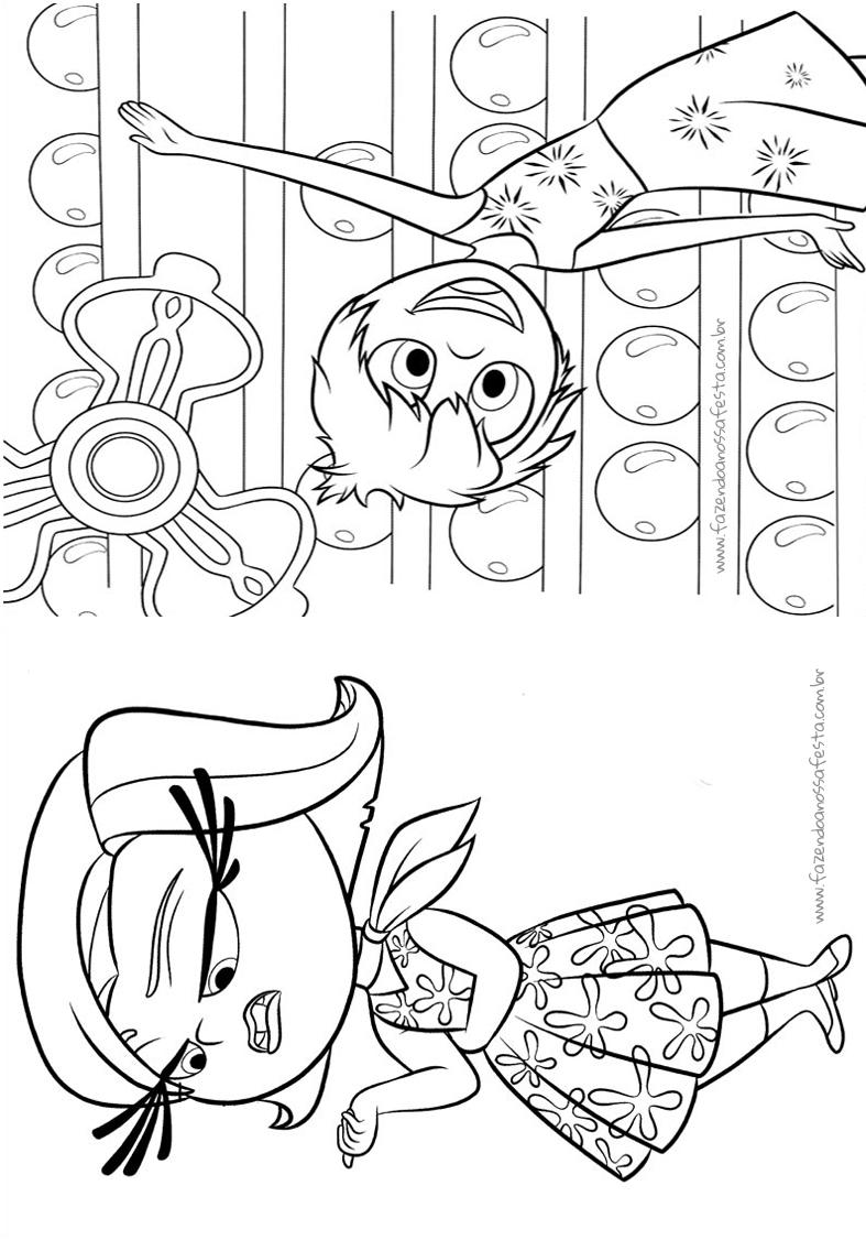 pagina 5 livrinho para colorir divertida mente disney fazendo a
