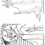 Pagina 5 Livrinho para Colorir Malevola