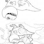 Pagina 5 Livrinho para Colorir O Bom Dinossauro
