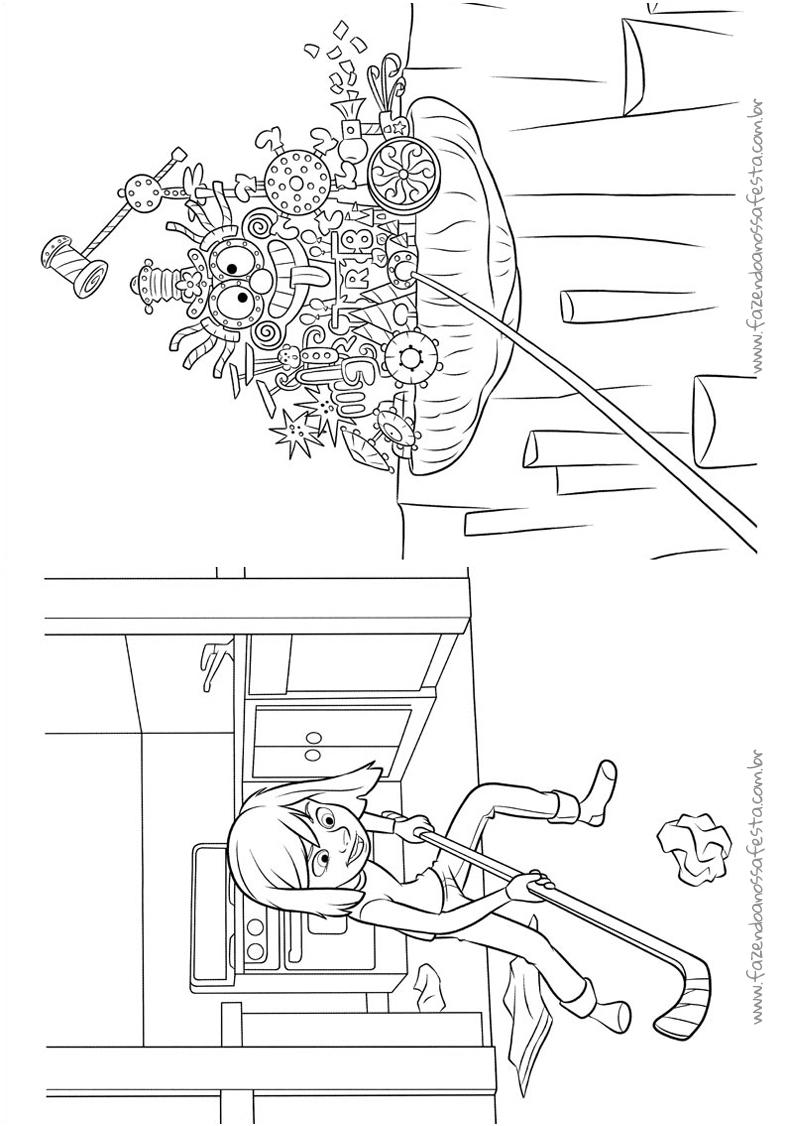 Pagina 7 Livrinho Divertida Mente Disney
