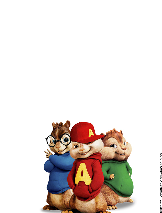 Passaporte - parte de dentro Alvin e os Esquilos