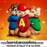 Envelope Cartao Agradecimento Alvin e os Esquilos