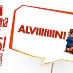 Plaquinhas Divertidas Alvin e os Esquilos Grátis