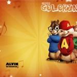 Revista Colorindo Alvin e os Esquilos