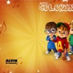 Revista Colorindo Alvin e os Esquilos Desenho