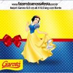 Rotulo Baton Garoto Festa Branca de Neve