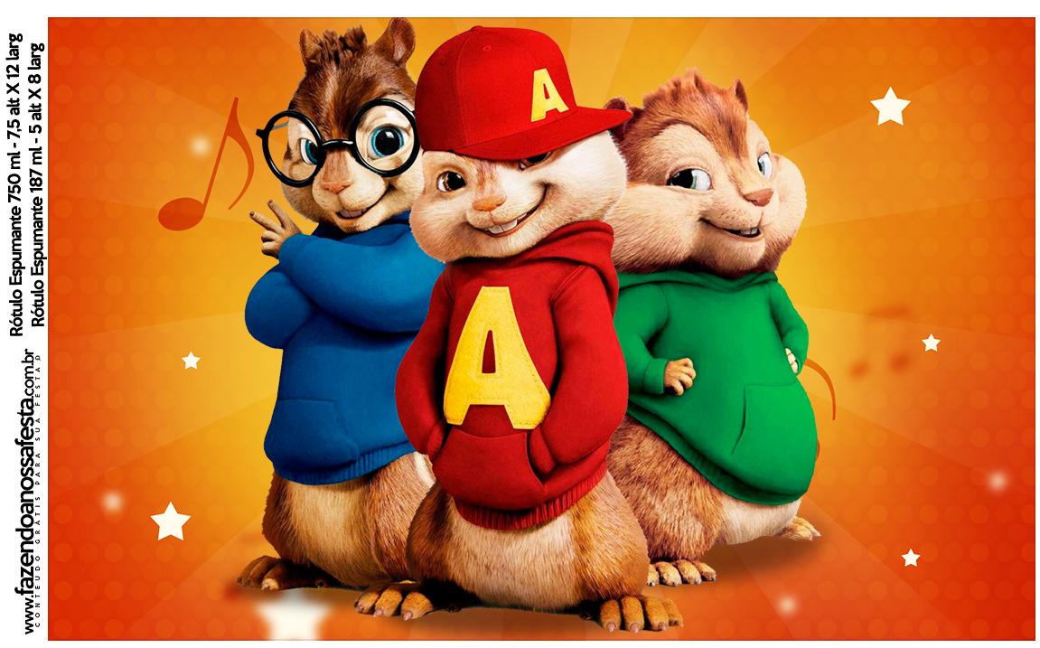 Rotulo Espumante Alvin e os Esquilos
