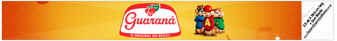 Rotulo Guarana Caculinha Kit Festa Alvin e os Esquilos