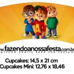 Saias Wrappers para Cupcakes 2 Alvin e os Esquilos Desenho