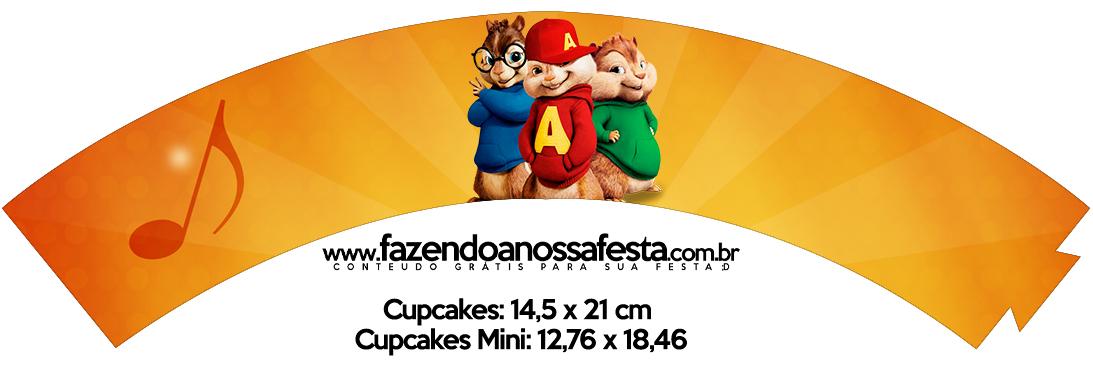 Saias Wrappers para Cupcakes 2 Alvin e os Esquilos