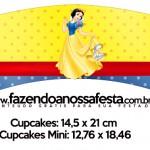 Saias Wrappers para Cupcakes Festa Branca de Neve