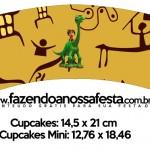 Saias Wrappers para Cupcakes O Bom Dinossauro