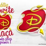 Convite Descendentes Dobrável – com a Maça Descendente Disney