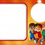 Convite ou Cartão Alvin e os Esquilos Desenho