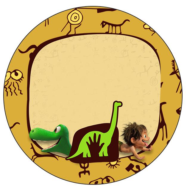 Rótulo Tubetes, toppers e Latinhas Bom Dinossauro