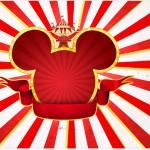 Adesivo barra de chocolate Mickey Circo