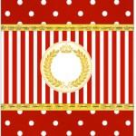 Bala personalizada Realeza Vermelho