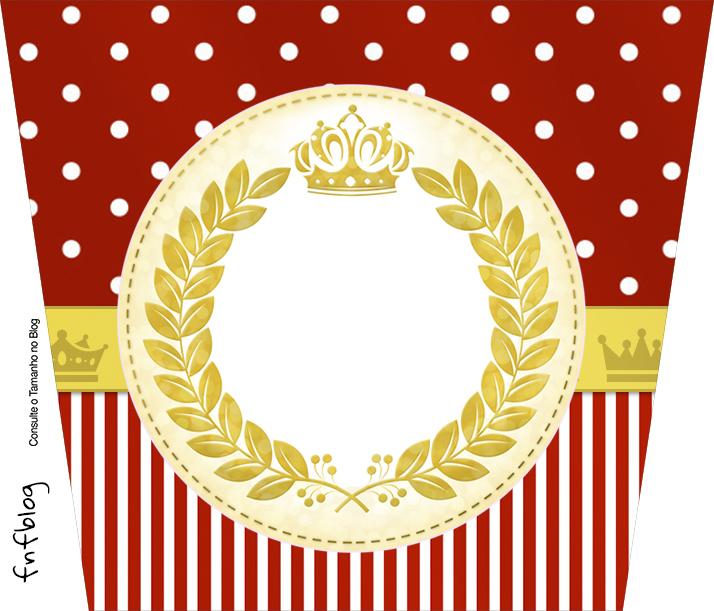 Balde de Pipoca Realeza Vermelho