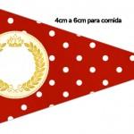 Bandeirinha Sanduiche 2 Realeza Vermelho