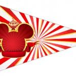 Bandeirinha Sanduiche 3 Mickey Circo