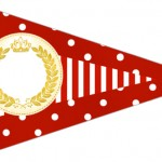Bandeirinha Sanduiche 3 Realeza Vermelho