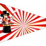 Bandeirinha Sanduiche 4 Mickey Circo