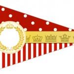 Bandeirinha Sanduiche 4 Realeza Vermelho