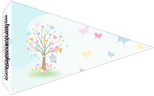 Bandeirinha Sanduiche 5 Jardim das Borboletas